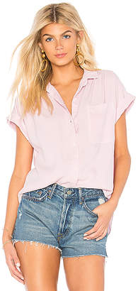 Bella Dahl Capsleeve Pocket Button Down
