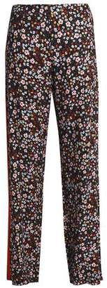 Mother of Pearl Floral-Print Twill Wide-Leg Pants