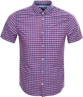 Tommy Hilfiger Gingham Stretch Shirt Pink