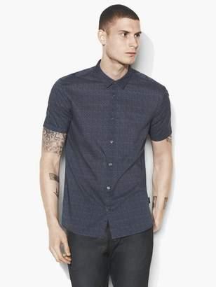 John Varvatos Foulard Short Sleeve Shirt