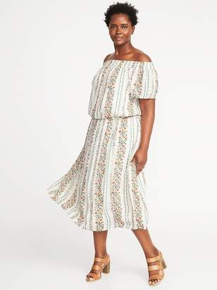 Old Navy Off-the-Shoulder Plus-Size Midi Dress