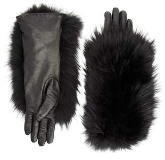 11a35b729 Leather Gloves Fur - ShopStyle