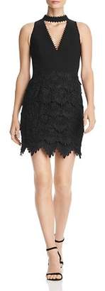 Aidan Mattox Tiered Lace Choker Dress - 100% Exclusive