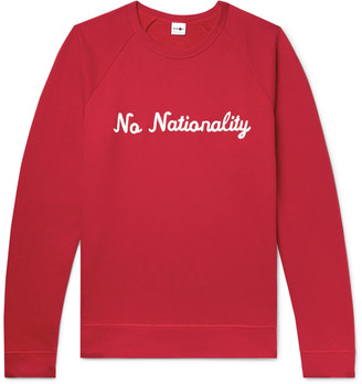NN07 Logo-Appliqued Fleece-Back Cotton-Jersey Sweatshirt