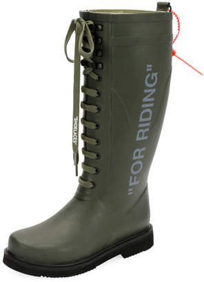 Off-White For Riding Quote Wellington Rain Boot