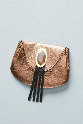 Anthropologie Jewelled Leather Coin Pouch