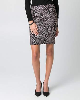Le Château Sparkle Scuba Knit Pencil Skirt