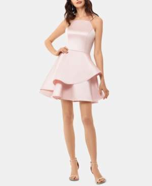 Betsy & Adam Tiered Fit & Flare Dress