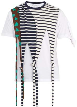 J.W.Anderson Draped Knot Detail Cotton Jersey T Shirt - Mens - Multi