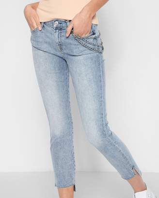 7 For All Mankind Ankle Skinny with Optional Chain and Step Hem in Desert Springs