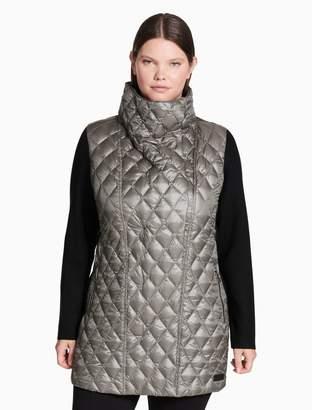 Calvin Klein plus size down asymmetrical walker jacket