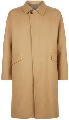 Solid Homme Long Pocket Overcoat