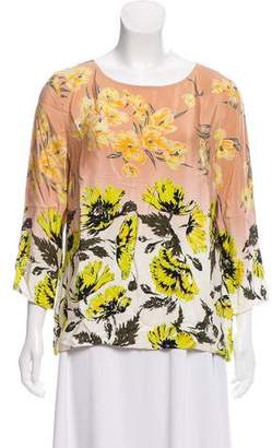 Clements Ribeiro Printed Scoop-Neck Top