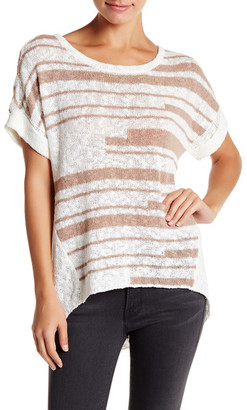 Michael Stars Hi-Lo Short Sleeve Knit Sweater $128 thestylecure.com
