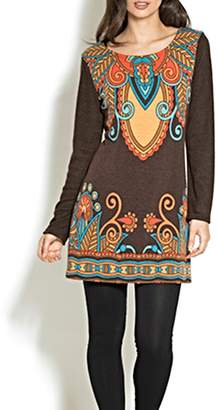 Adore Motif Tunic Sweater