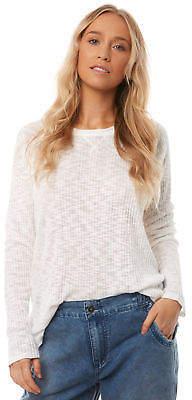 O'Neill New Women's Womens Sandy Knit Crew Rayon White