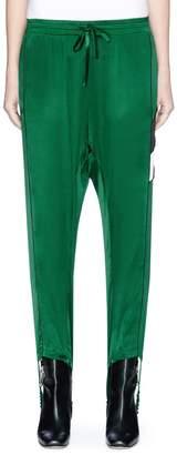 Ground Zero GROUND-ZERO Silk stirrup track pants