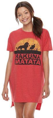 Disney's The Lion King Juniors' Pajamas: Oversized Sleep Shirt $25 thestylecure.com