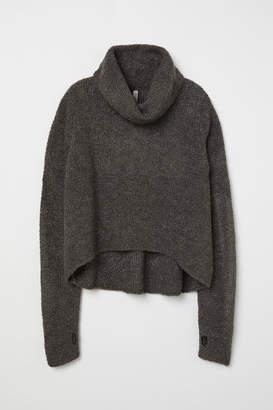 H&M Boucle Turtleneck Sweater - Gray