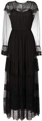 Twin-Set sheer tulle detail dress
