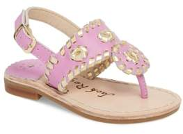 Jack Rogers Little Miss Hollis Metallic Trim Sandal
