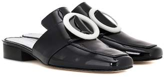 Dorateymur Petrol patent leather mules
