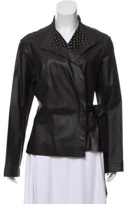 Loulou De La Falaise Belted Leather Jacket Loulou De La Falaise Belted Leather Jacket