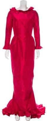 Oscar de la Renta Vintage Satin Gown