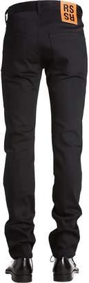 Raf Simons Cotton Denim Jeans W/ Patches