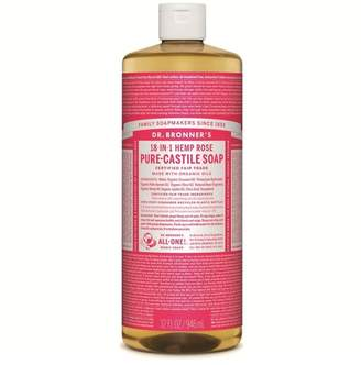 Dr Bronner Dr. Bronner's Organic Rose Castile Liquid Soap 946ml - No Colour