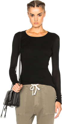 James Perse Doubled Cashmere Crew Sweater $145 thestylecure.com