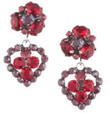 Dannijo Flora Heart Drop Earrings - Asst Red