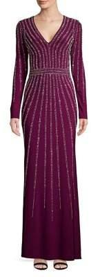 Xscape Evenings Long Sleeve Coloum Gown