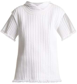 Craig Green Piped Cotton Hooded T Shirt - Womens - White
