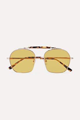 Illesteva Samui Round-frame Tortoiseshell Acetate And Metal Sunglasses - one size
