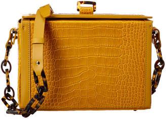 Nico Giani Cerea Large Croc-Embossed Leather Box Bag