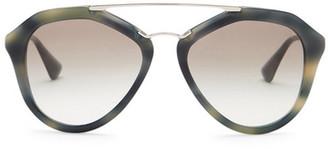 MIU MIU Women's Cinema Aviator Metal Frame Sunglasses $390 thestylecure.com
