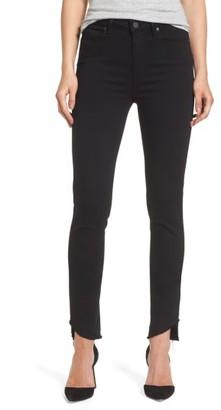 Women's Paige Transcend Hoxton High Waist Undone Hem Skinny Jeans $199 thestylecure.com