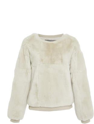 Pologeorgis Harper Rabbit Fur Sweatshirt