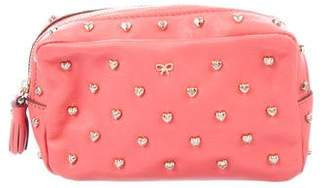 Anya Hindmarch Studded Leather Cosmetic Pouch