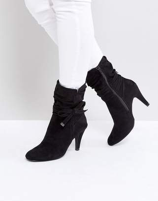 Head Over Heels by Dune Rayna Black Heeled Ankle Boots