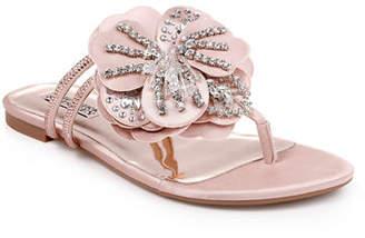 19d0dec1ed3a Badgley Mischka Laurie Flower Flat Sandals