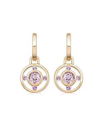 Kiki McDonough Forget Me Not 18k Gold & Lavender Amethyst Drop Earrings