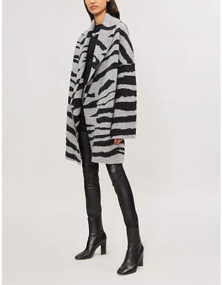 Zadig & Voltaire Open-front zebra-print wool-blend cardigan