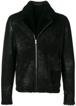 Salvatore Santoro shearling biker jacket