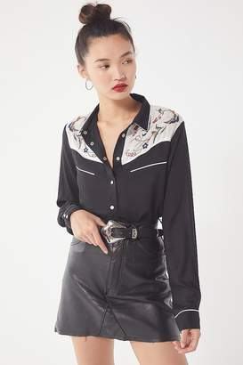 Urban Outfitters Wendie Western Button-Down Shirt