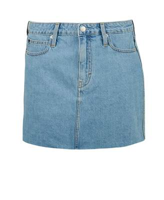 77ee74718a Calvin Klein Jeans Mid Rise Denim Skirt Colour: LIGHT BLUE, Size: 25R
