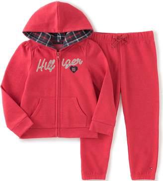 Tommy Hilfiger Baby Girls' Fleece Jog Pants Set