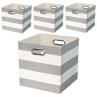 Posprica Collapsible Storage Cube Bins Boxes Basket Containers for Nursery