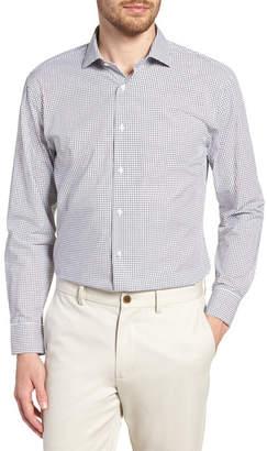 Nordstrom Grid Print Trim Fit Dress Shirt